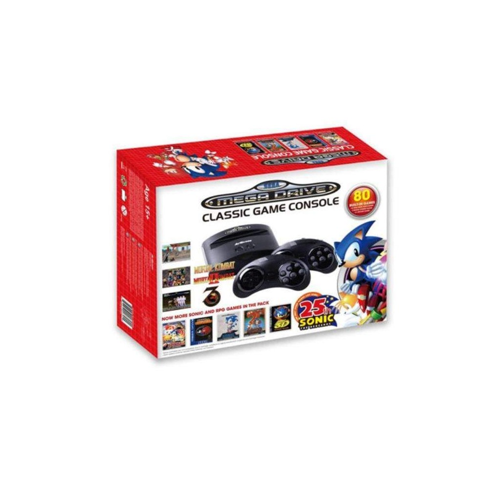 CONSOLE MEGADRIVE 80 JEUX 25 TH ANNIVERSARY NEW