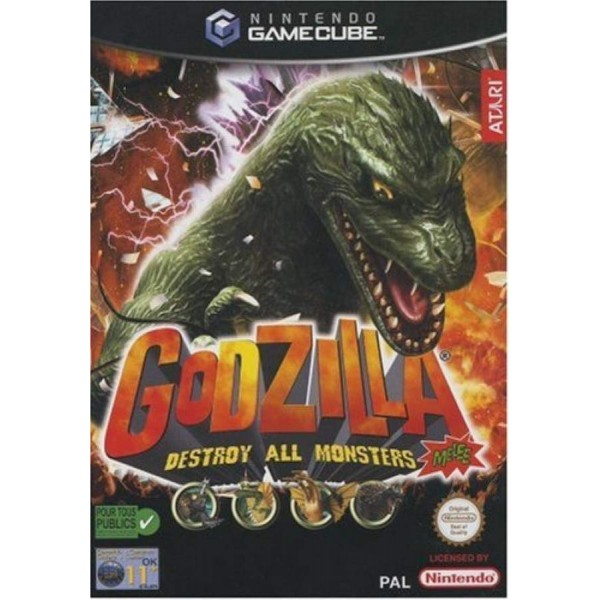 GODZILLA: DESTROY ALL MONSTERS MELEE GAMECUBE PAL-EURO OCCASION