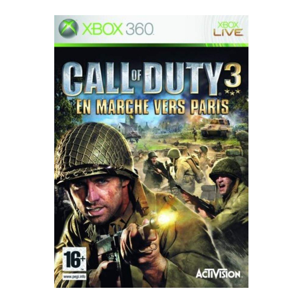 CALL OF DUTY 3 EN MARCHE VERS PARIS XBOX 360 PAL-FR OCCASION