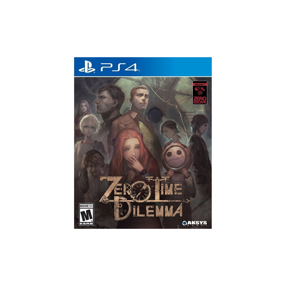 ZERO TIME DILEMMA PS4 US OCCASION