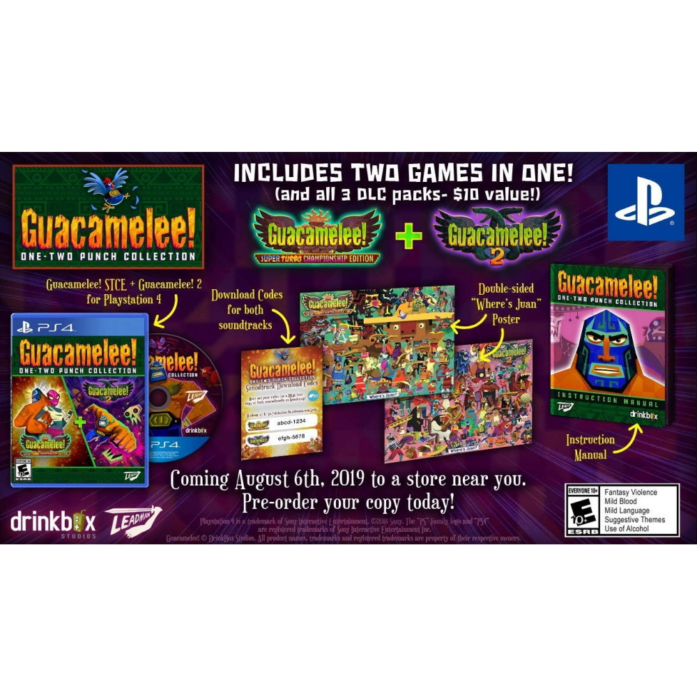 GUACAMELEE! ONE-TWO PUNCH COLLECTION PS4 US NEW