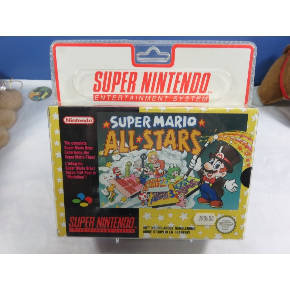 SUPER MARIO ALL STARS SNES PAL-FAH BLISTER RIGIDE NEW