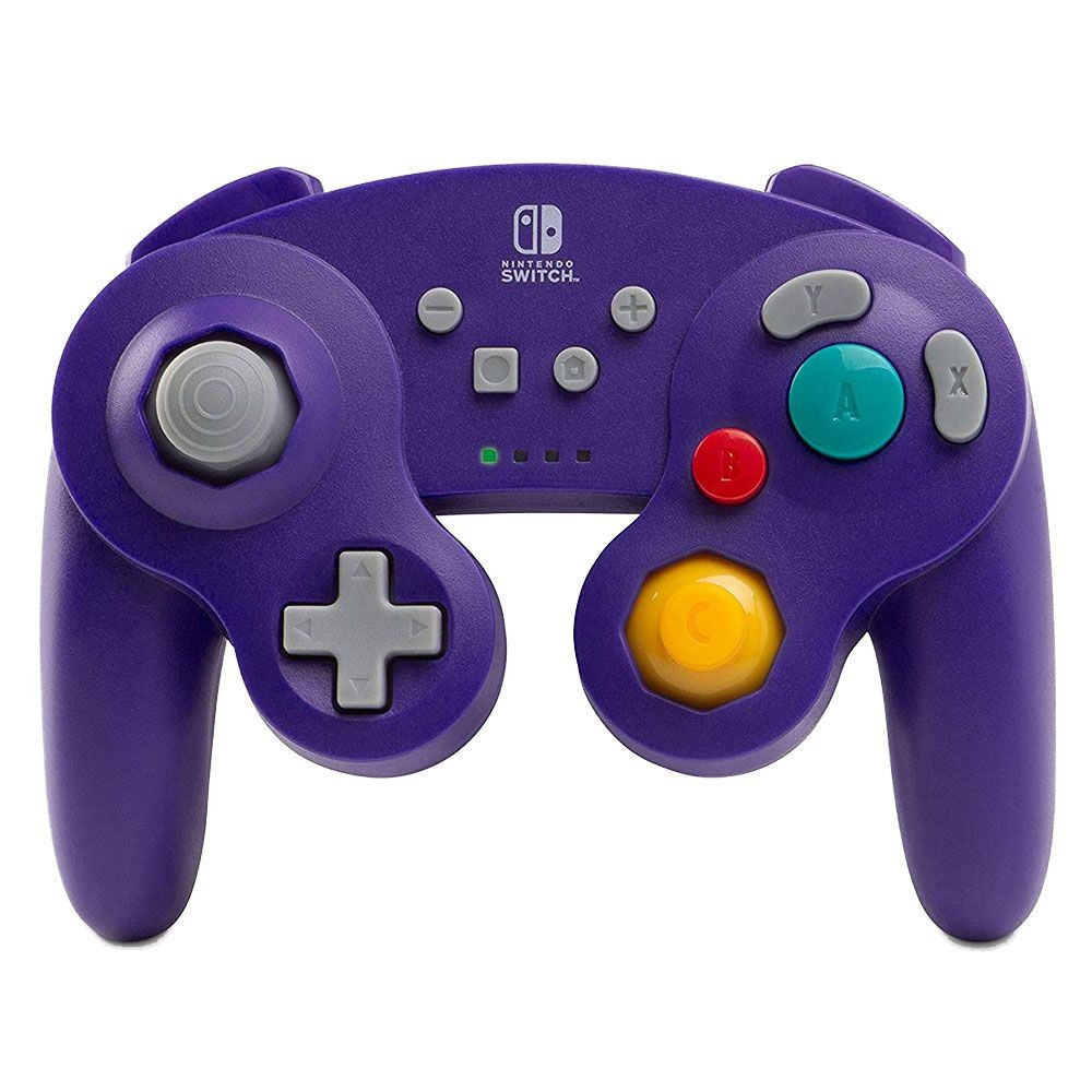 CONTROLLER GAMECUBE PURPLE WIRELESS POWER A SWITCH FR OCCASION