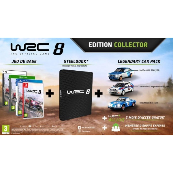 WRC 8 COLLECTOR PS4 UK NEW