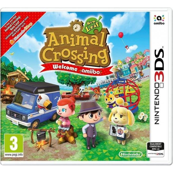 ANIMAL CROSSING NEW LEAF WELCOME AMIIBO 3DS FRANCAIS OCCASION