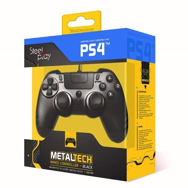 CONTROLLER FILAIRE STEELPLAY PS4 EURO NEW