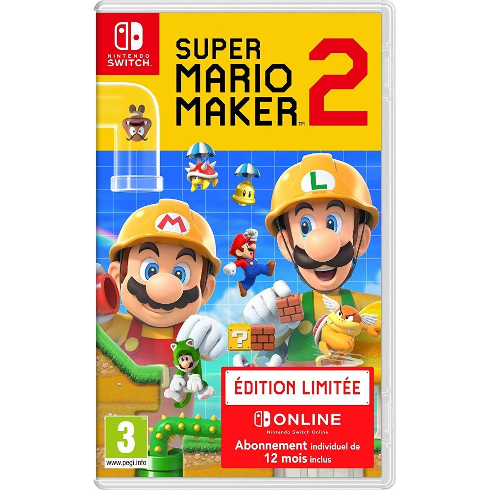 SUPER MARIO MAKER 2 EDITION LIMITEE SWITCH FR OCCASION