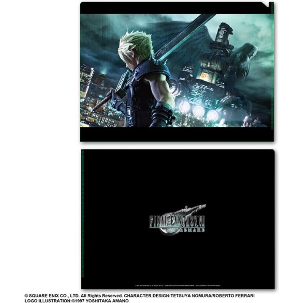 DOSSIER FINAL FANTASY VII REMAKE METALLIC FILE VOL.1 JAP NEW