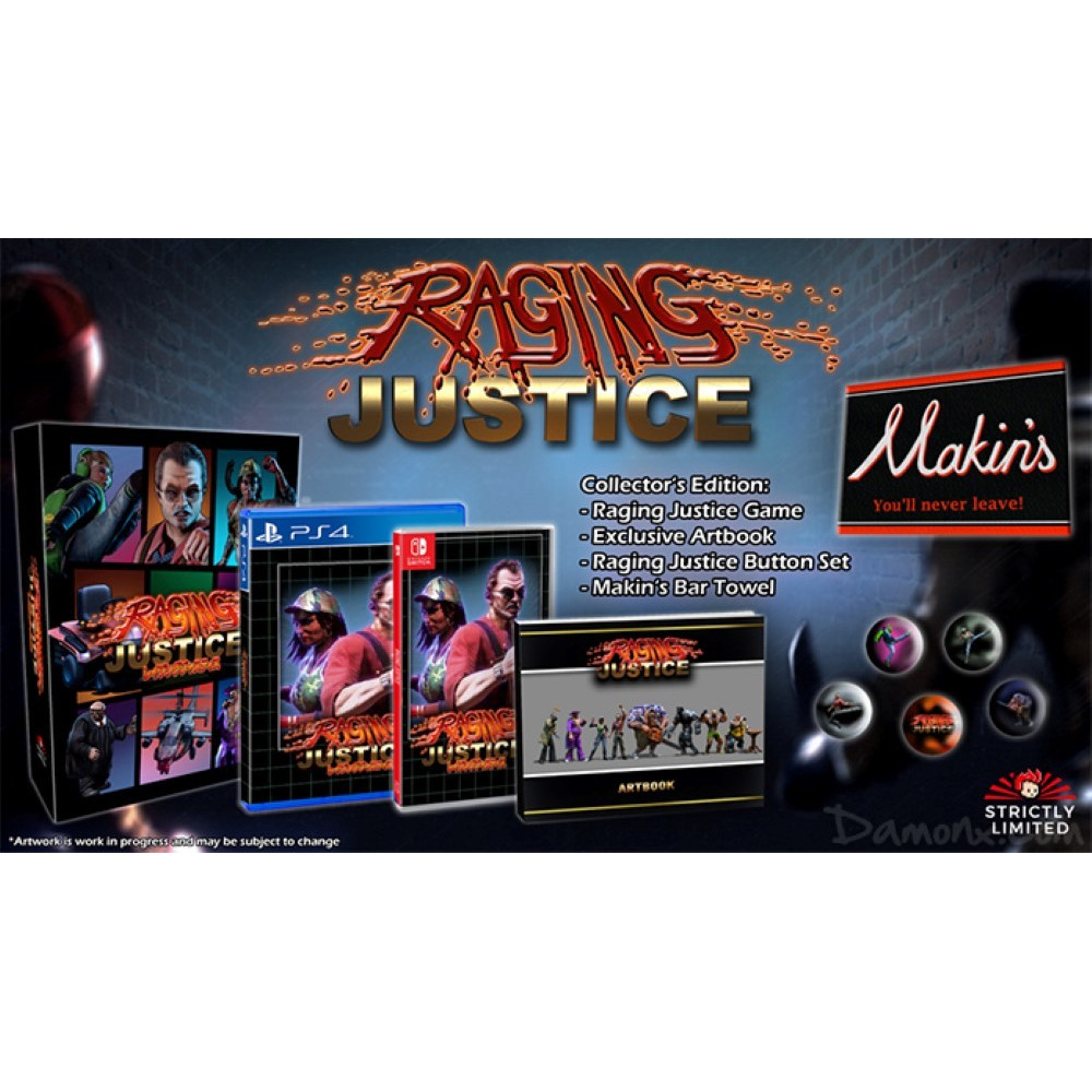 RAGING JUSTICE COLLECTOR SWITCH EURO NEW