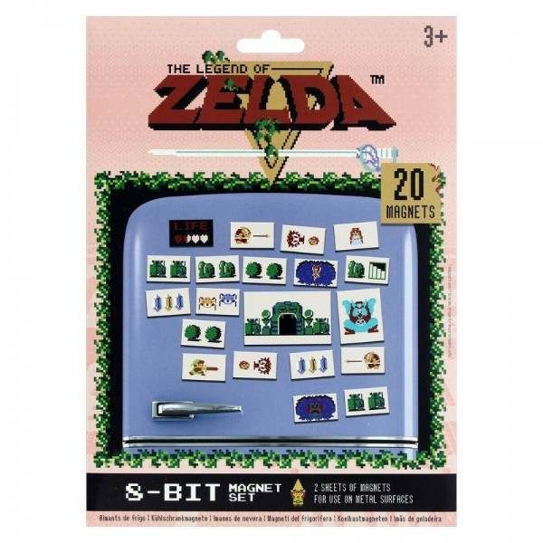 MAGNET SET ZELDA RETRO EURO NEW