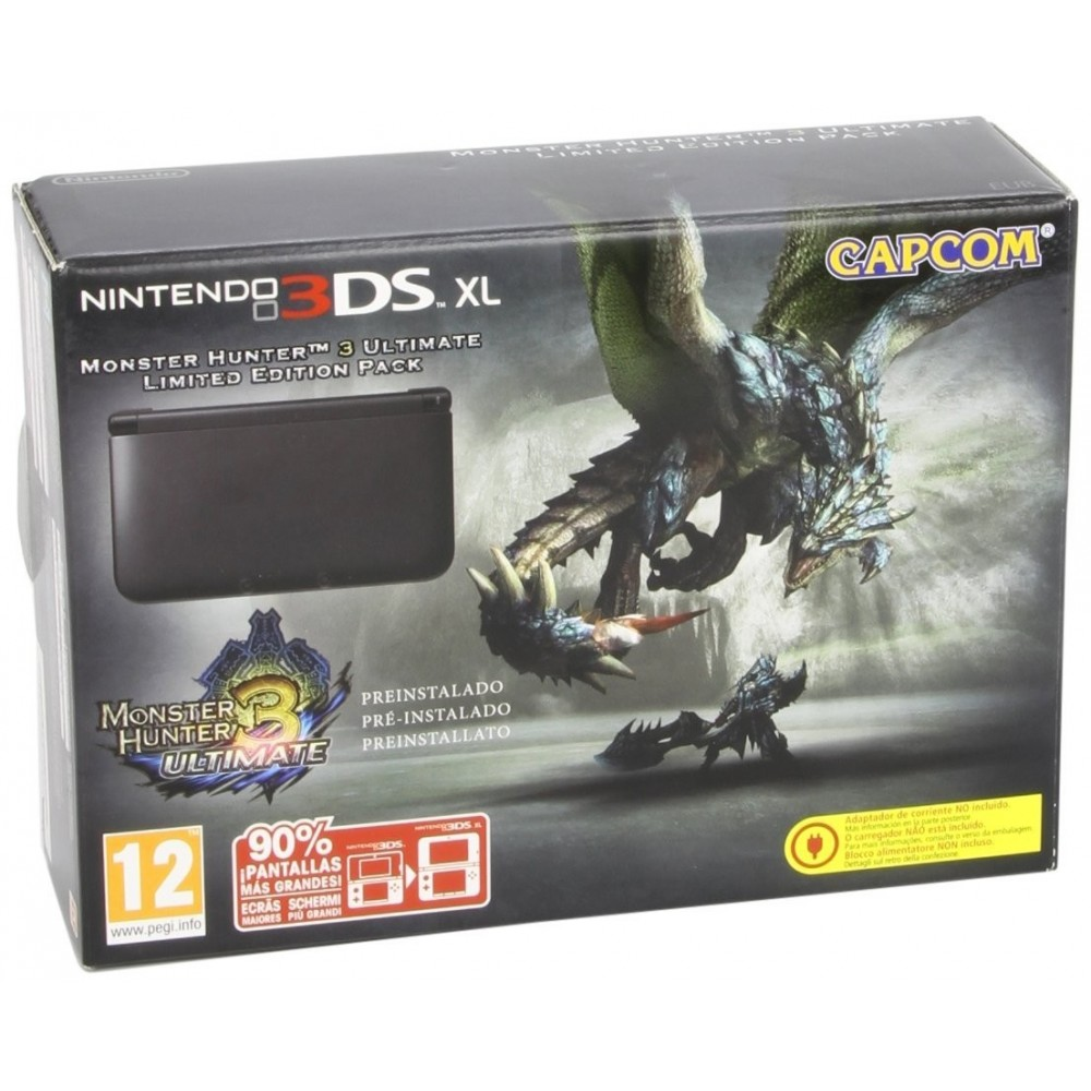 CONSOLE 3DS XL NOIRE MONSTER HUNTER 3 EURO OCCASION