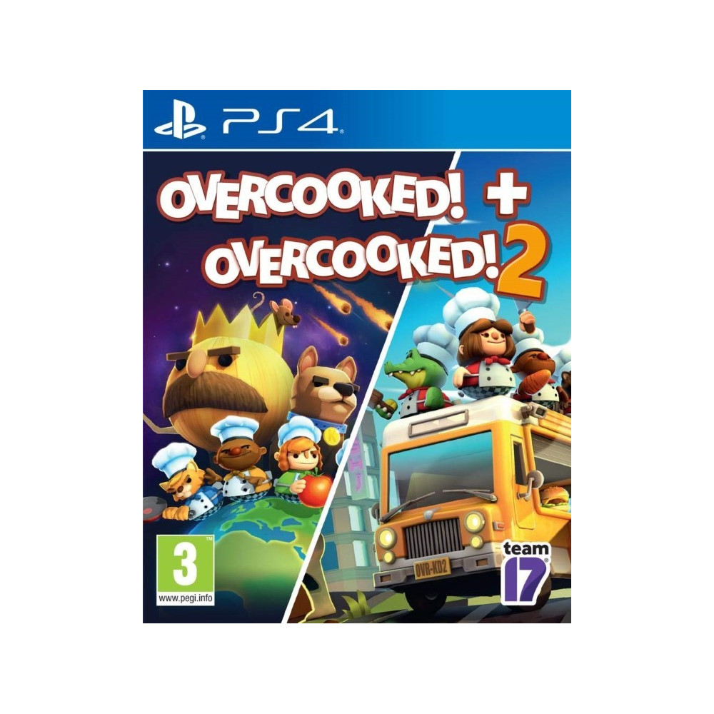 OVERCOOKED DOUBLE PACK OVERCOOKED + OVERCOOKED 2 PS4 EURO FR NEW