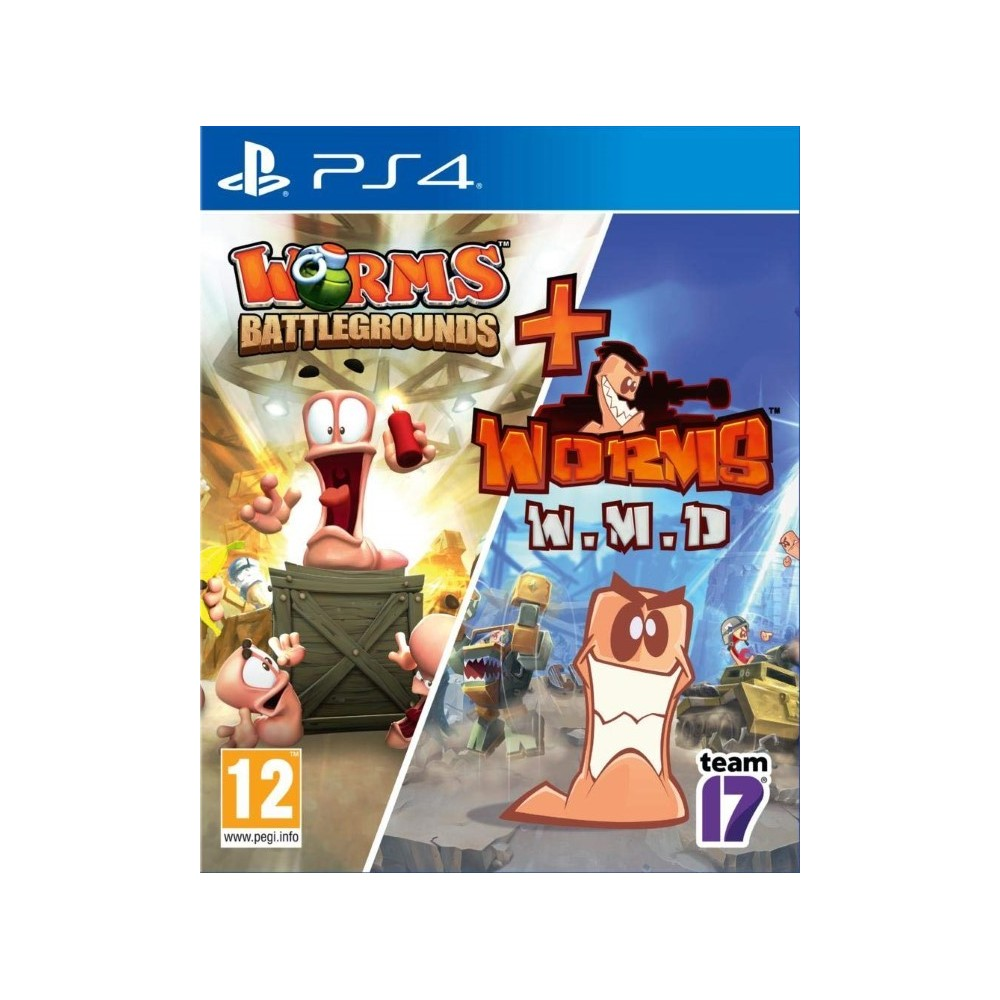 WORMS DOUBLE PACK: BATTLEGROUNDS & W.M.D EURO FR NEW