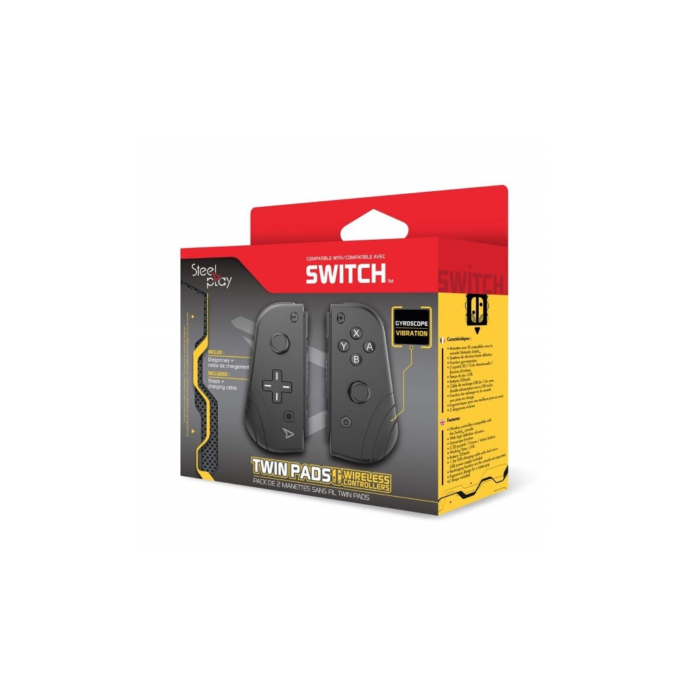 TWIN PADS WIRELESS CONTROLLERS STEELPLAY SWITCH NEW