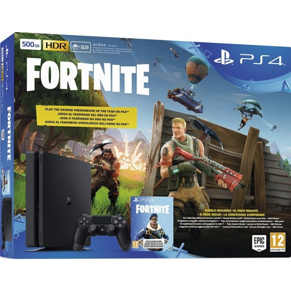 CONSOLE PS4 SLIM 500 GO + FORTNITE EURO NEW