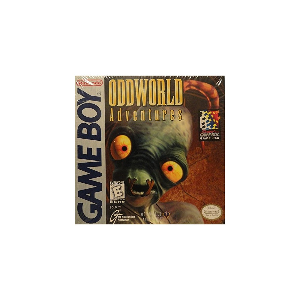 ODDWORLD ADVENTURES GAMEBOY USA NEW