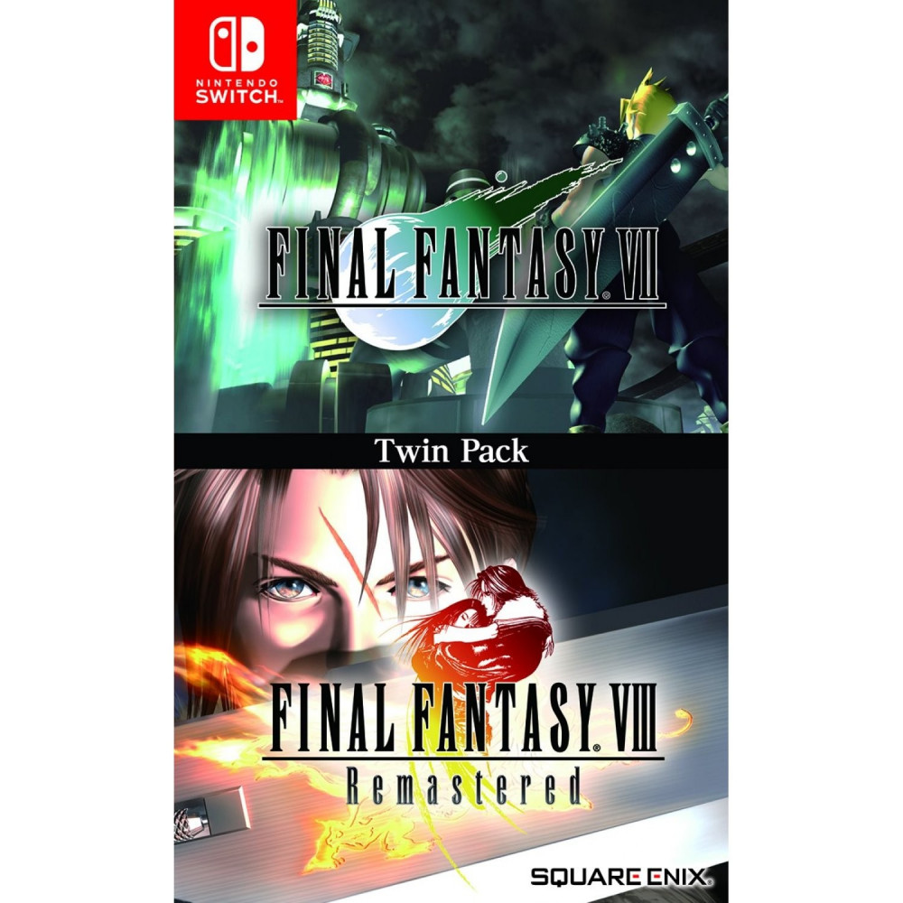 FINAL FANTASY VII & FINAL FANTASY VIII REMASTERED TWIN PACK SWITCH AVEC TEXTE EN FRANCAIS NEW