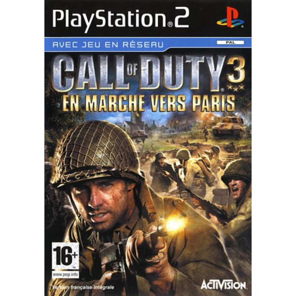 CALL OF DUTY 3 : EN MARCHE VERS PARIS PS2 PAL-FR OCCASION
