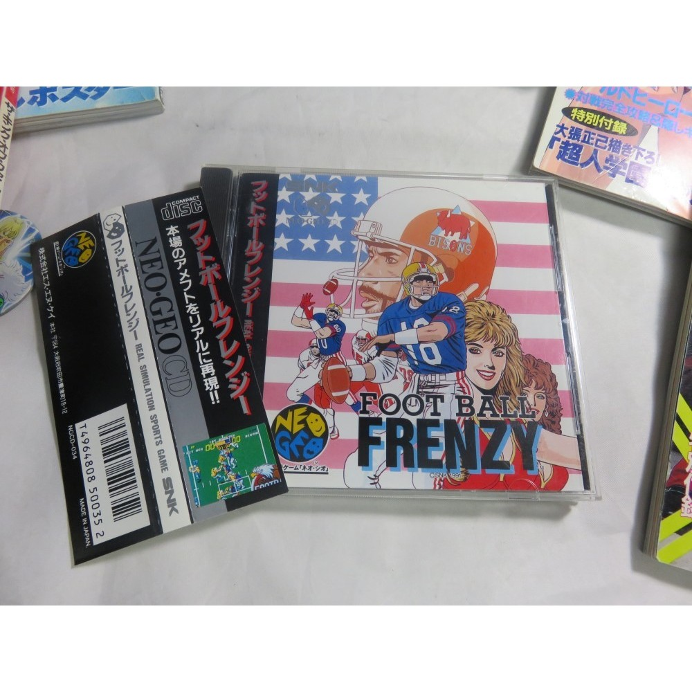 FOOTBALL FRENZY NEOGEO CD JPN OCCASION AVEC SPINE CARD
