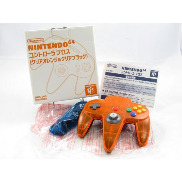 CONTROLLER N64 CLEAR ORANGE BLACK (DAIEI HAWKS LIMITED) JPN (MINT)