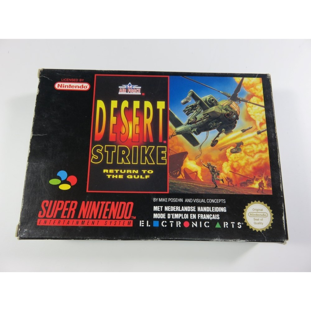 DESERT STRIKE RETURN TO THE GULF SNES PAL-FAH OCCASION