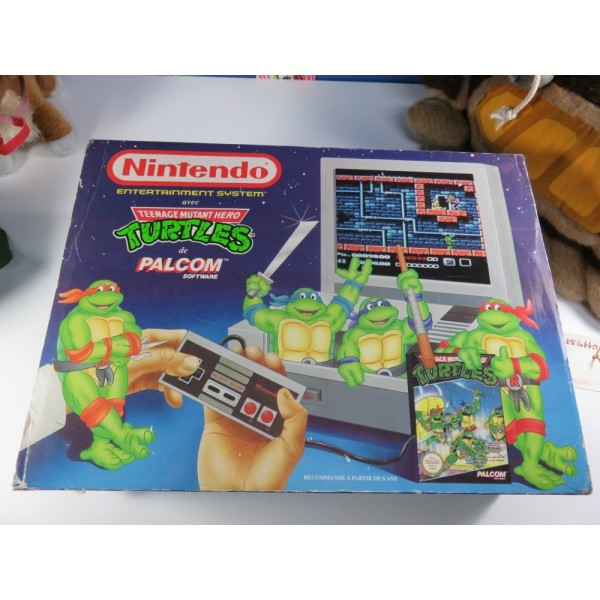 CONSOLE NES PACK TORTUES NINJA PAL-B FRA OCCASION (COMPLET)