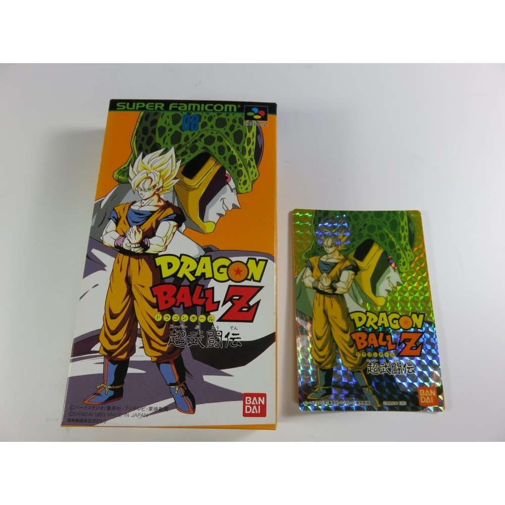 DRAGON BALL Z SUPER BUTOUDEN + STICKER SFC NTSC-JPN NEW