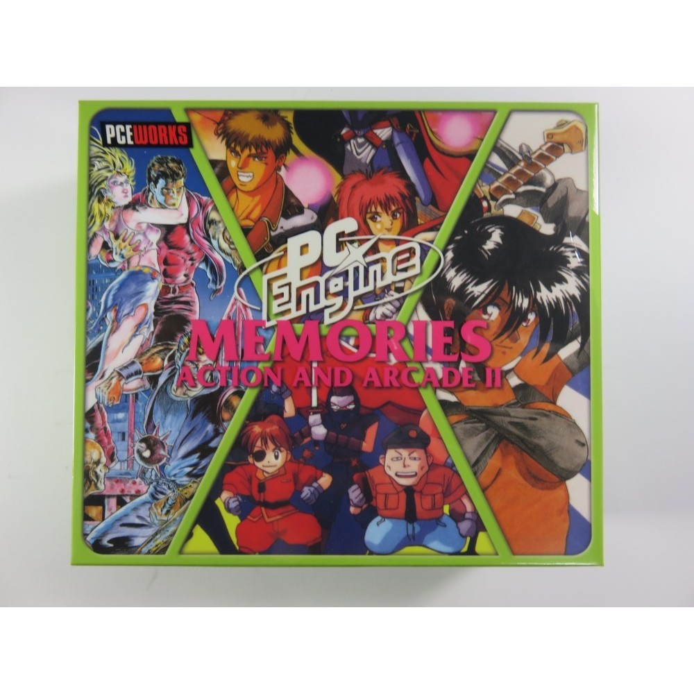 PC ENGINE MEMORIES ACTION AND ARCADE II BOOTLEG SUPER CDROM 2 NEW