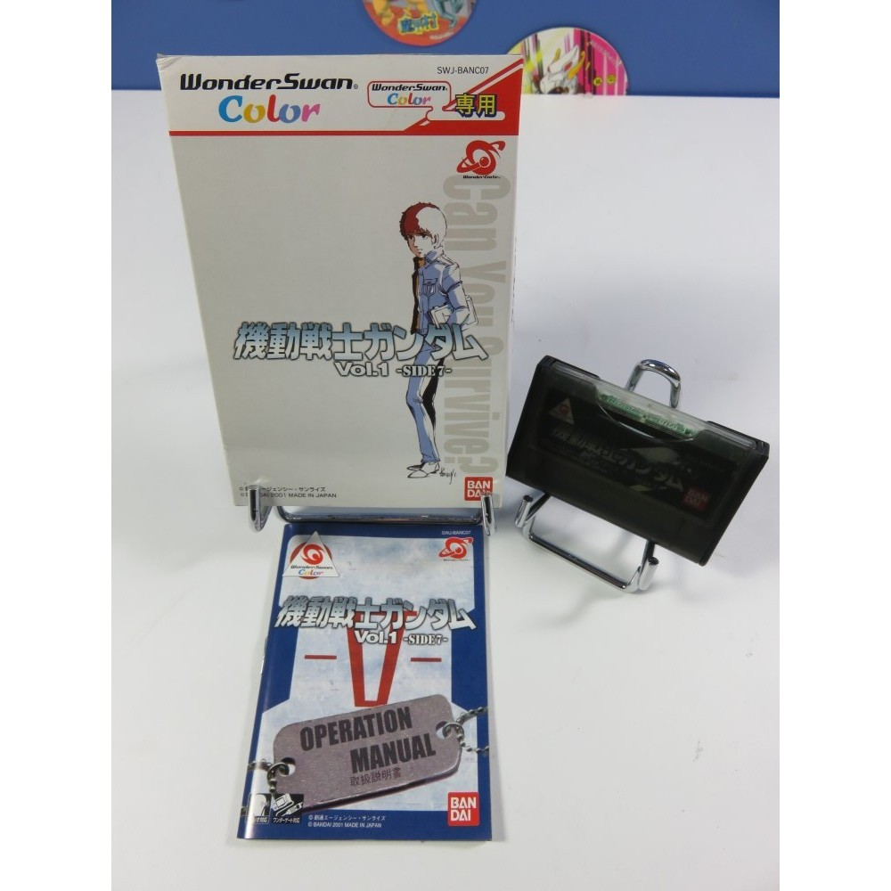 MOBILE SUIT GUNDAM VOL.1 SIDE 7 WONDERSWAN COLOR JPN OCCASION