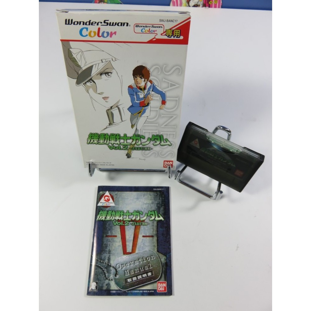 MOBILE SUIT GUNDAM VOL.2 JABURO WONDERSWAN COLOR JPN OCCASION