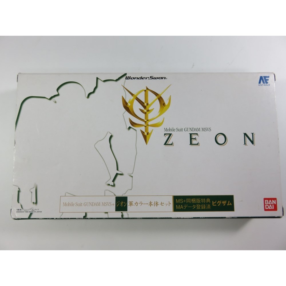 CONSOLE WONDER SWAN MOBILE SUIT GUNDAM MSVS ZEON JPN OCCASION