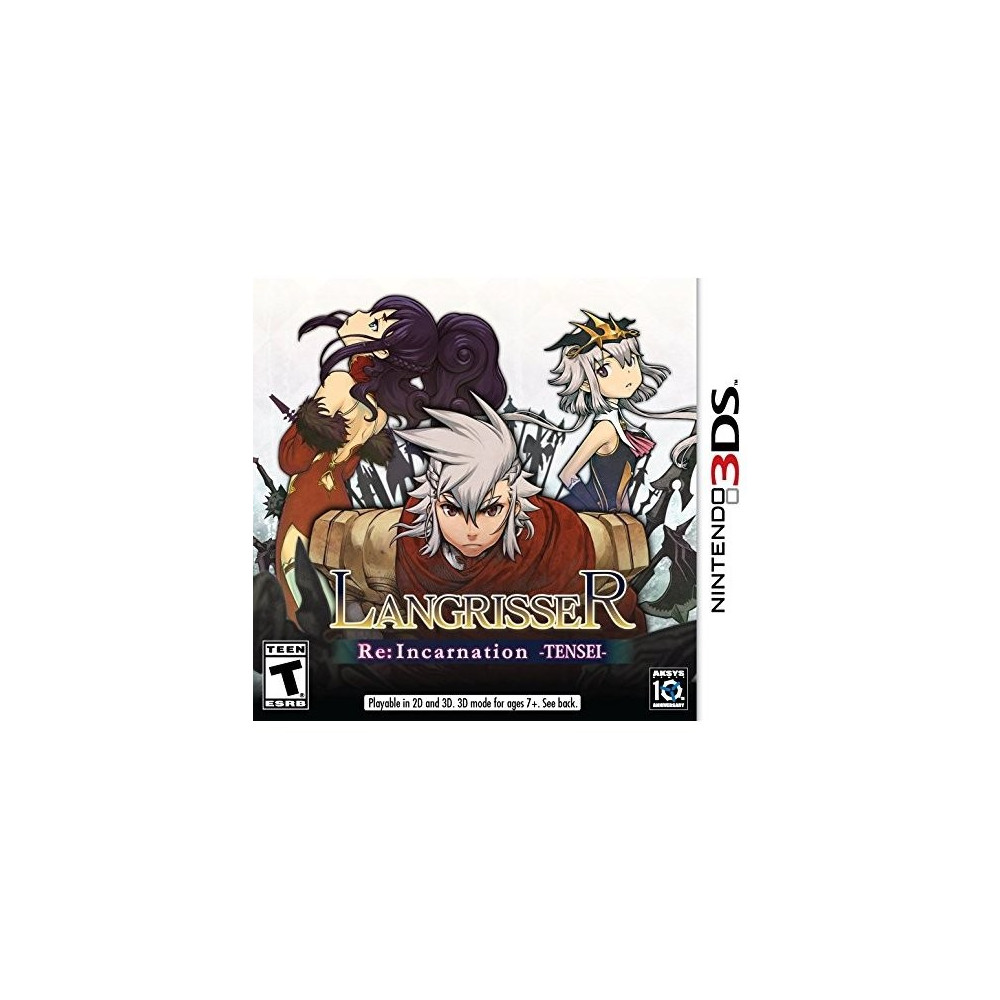 LANGRISSER RE INCARNATION TENSEI 3DS NTSC-US NEW
