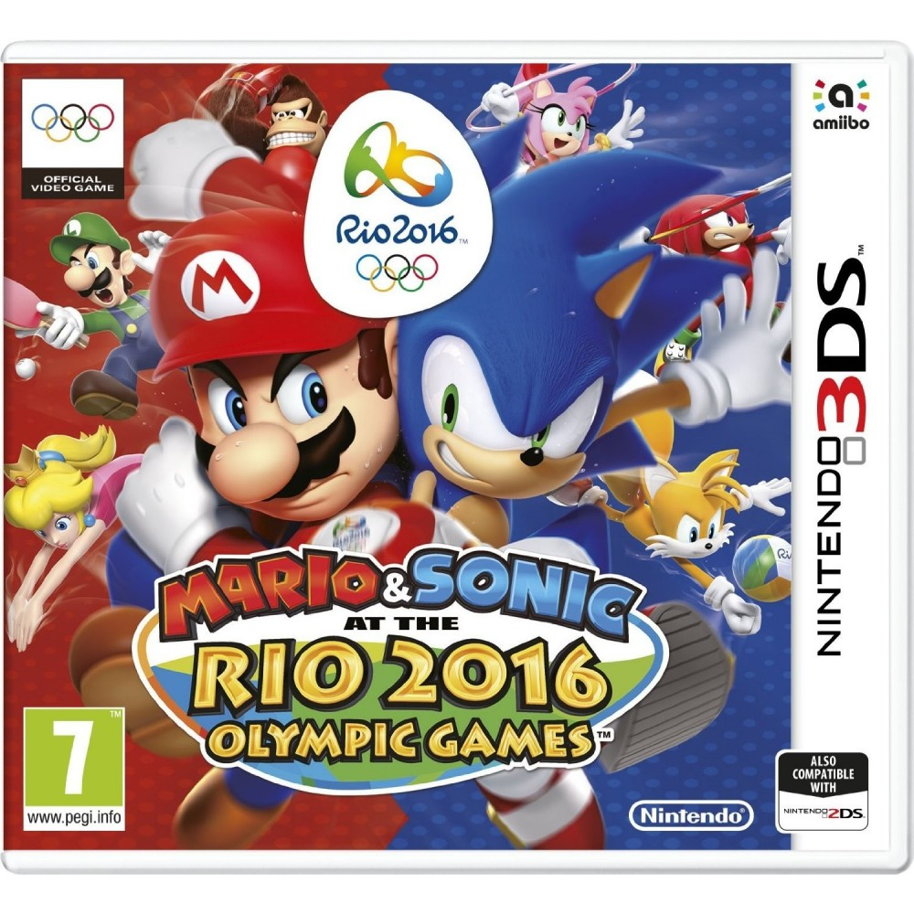 MARIO ET SONIC AT THE RIO 2016 OLYMPICS GAMES 3DS PAL-UK NEW