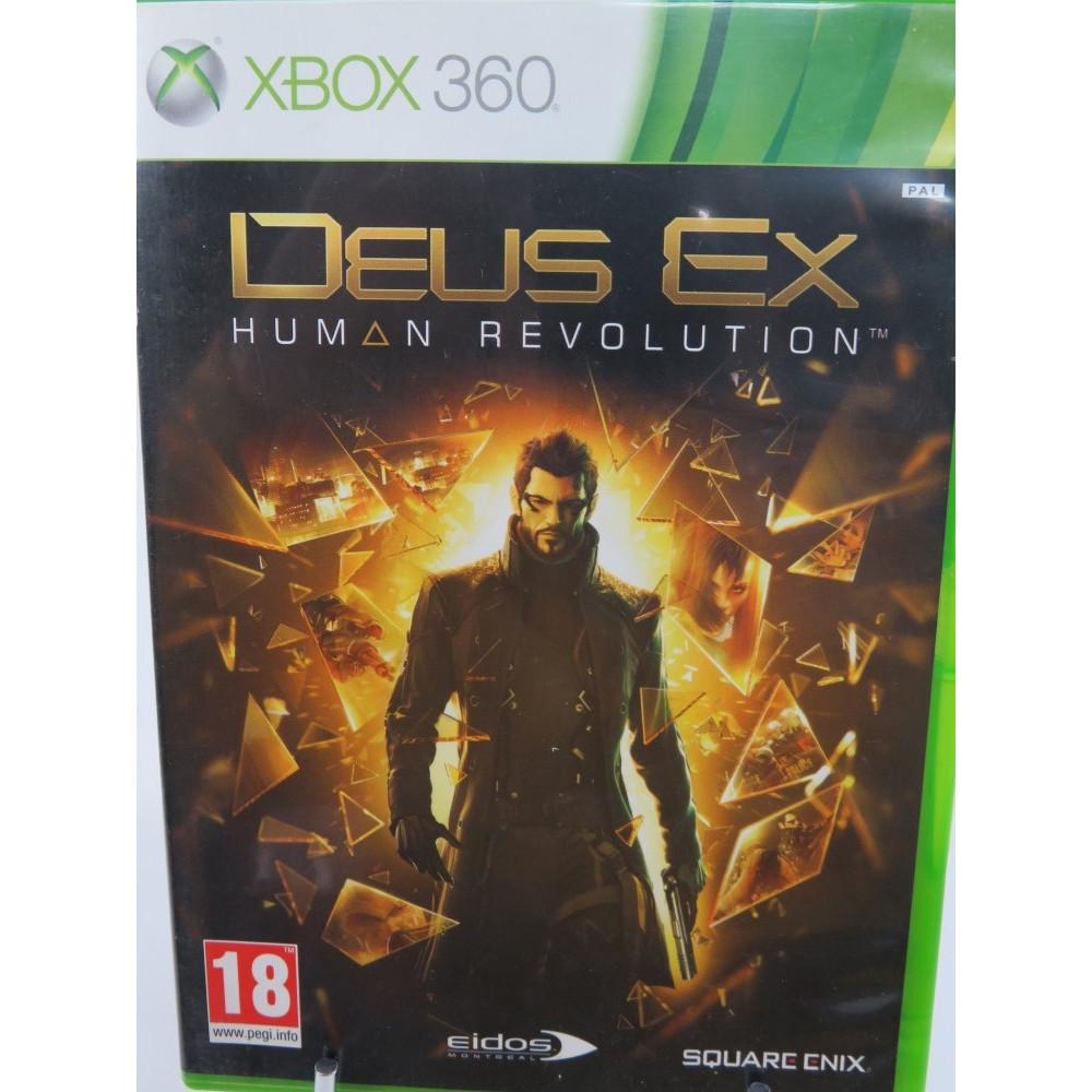 DEUS EX HUMAN REVOLUTION XBOX 360 PAL-FR OCCASION