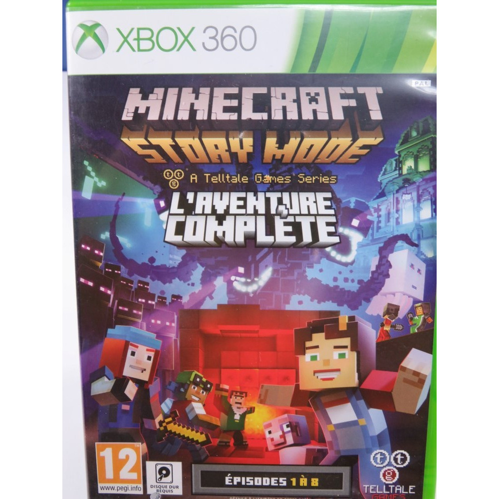 MINECRAFT STORY MODE L AVENTURE COMPLETE EP 1 A 8 (TELLTALE) XBOX 360 PAL-FR OCCASION