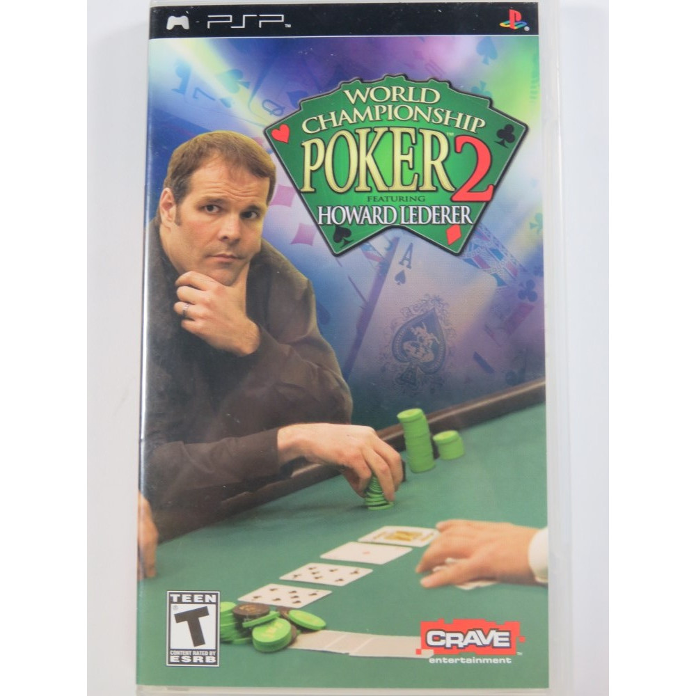 WORLD CHAMPIONSHIP POKER 2 HOWARD LEDERER PSP USA OCCASION