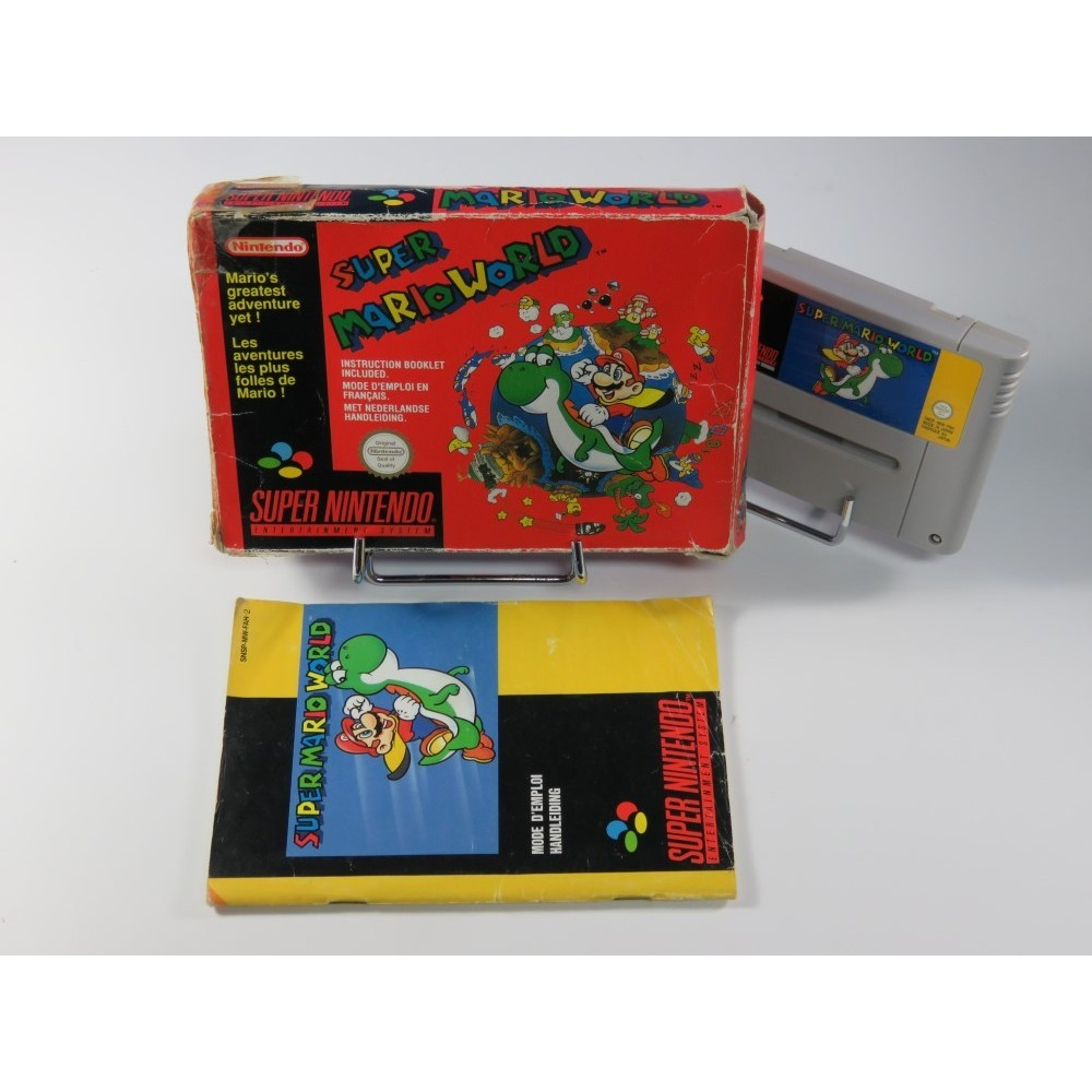 SUPER MARIO WORLD SNES PAL-FAH OCCASION (RED BOX)