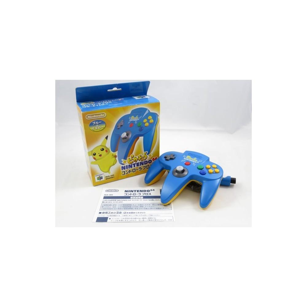 CONTROLLER NINTENDO 64 PIKACHU BLUE & YELLOW JPN OCCASION