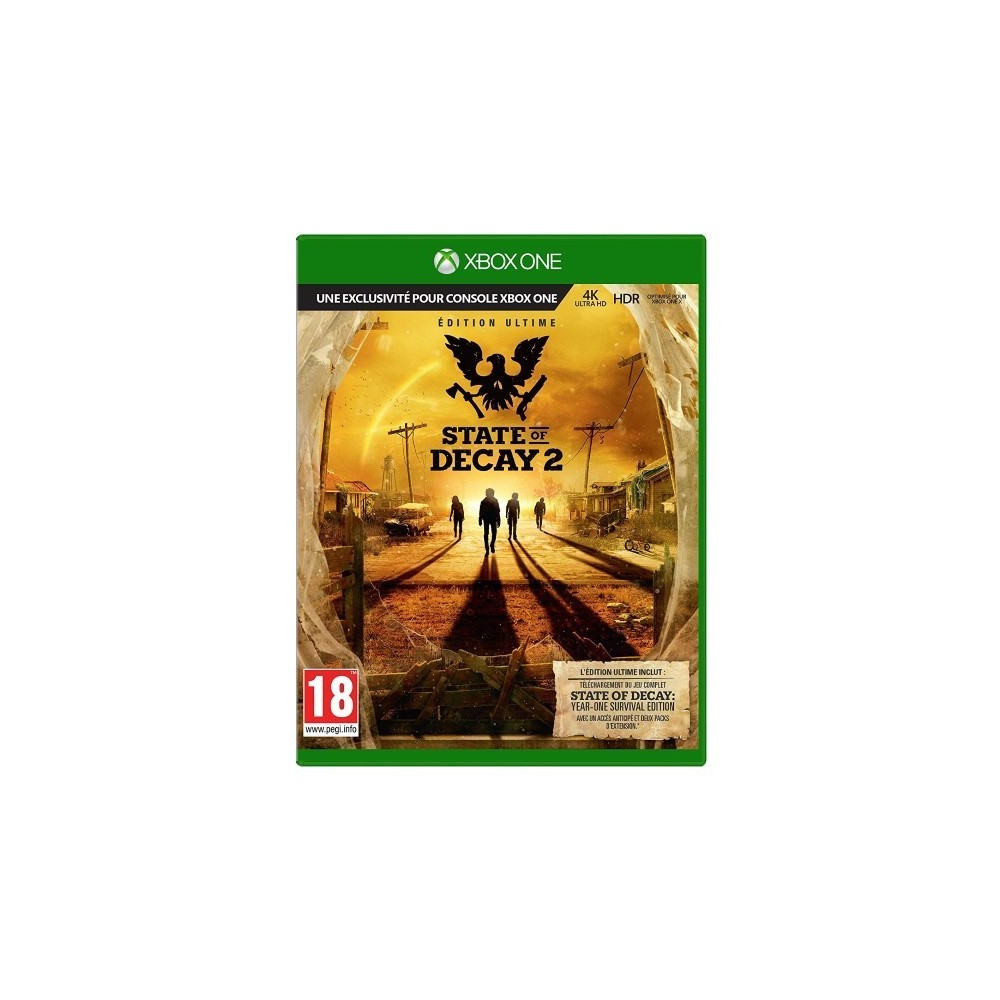 STATE OF DECAY 2 ULTIMATE EDITION XBOX ONE EURO FR OCCASION