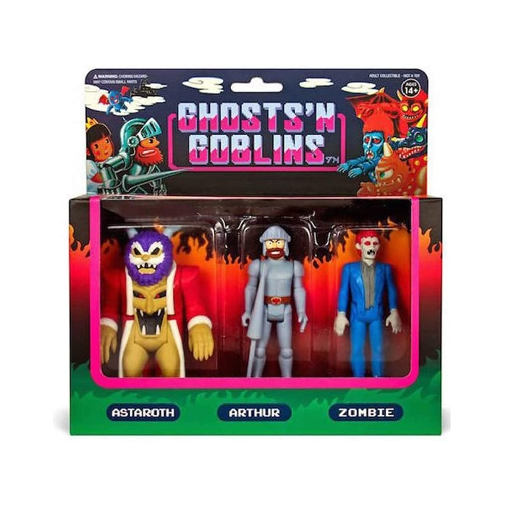 FIGURINES GHOST N GOBLINS 3 PACK A REACTION NEW