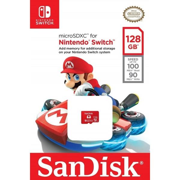 MICRO SD 128GB SANDISK NINTENDO SWITCH EURO NEW