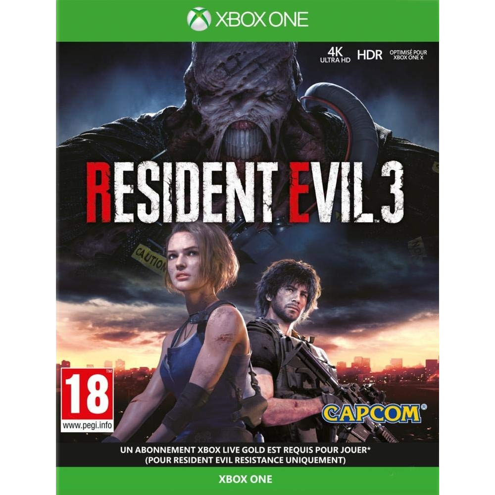 RESIDENT EVIL 3 XBOX ONE FR OCCASION