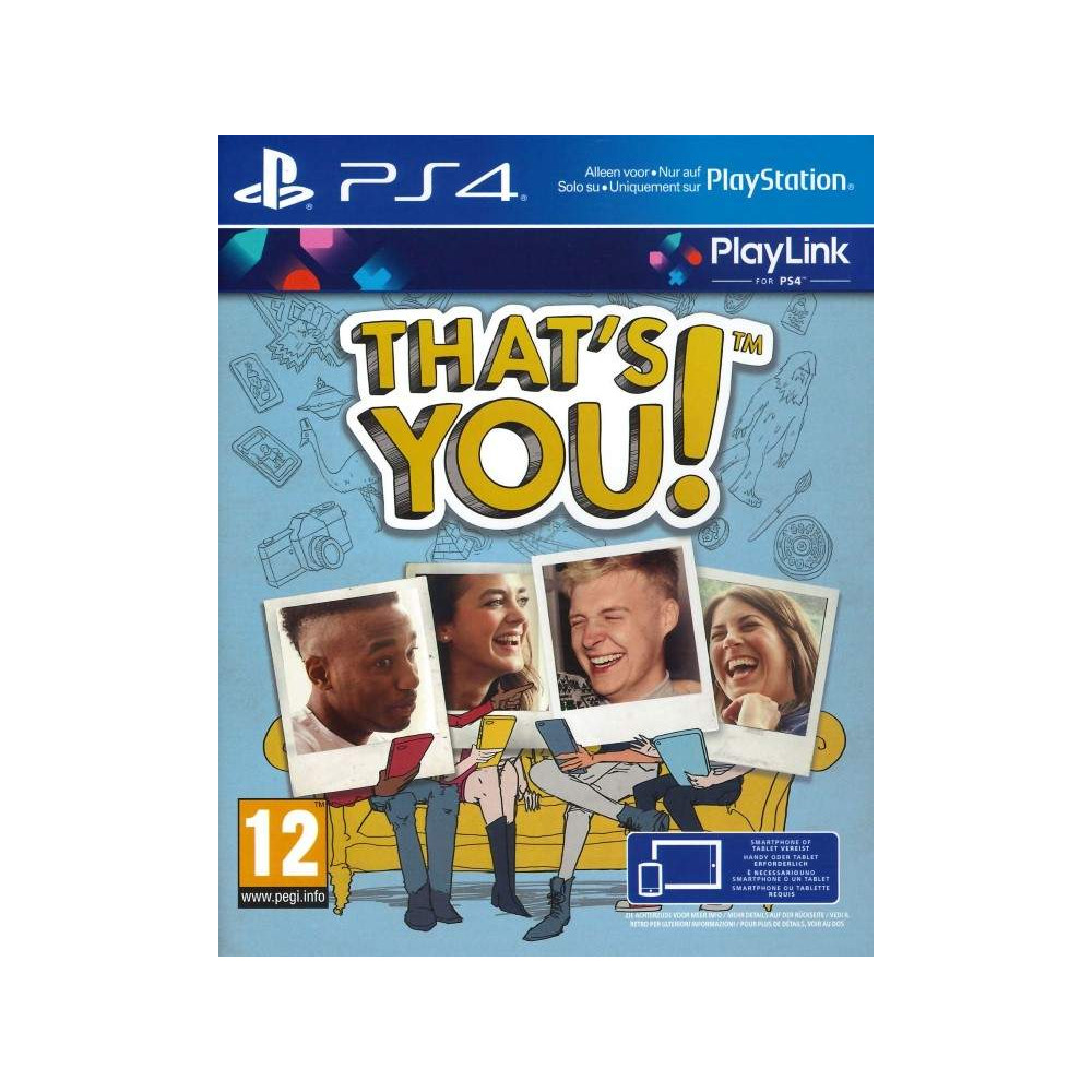 THAT S YOU ! PS4 UK NEW