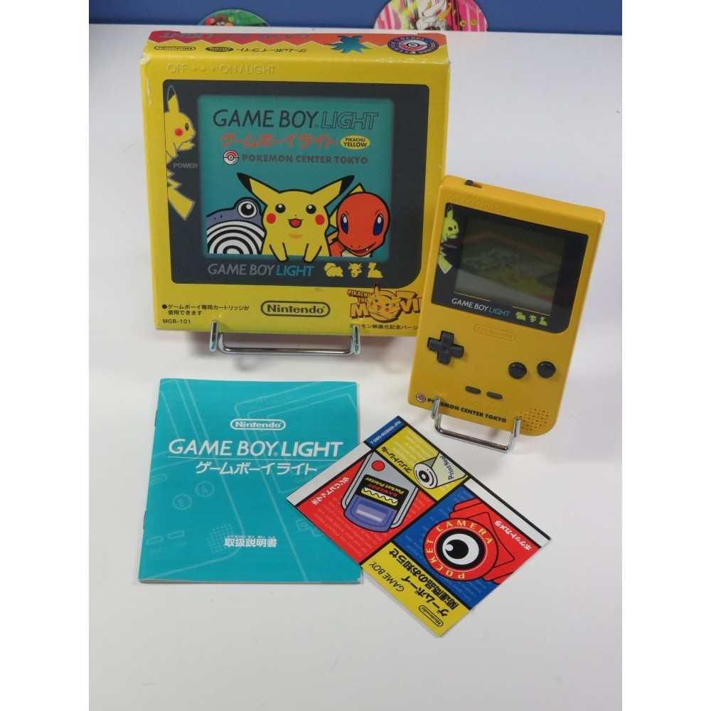 CONSOLE GAME BOY LIGHT - POKEMON CENTER TOKYO PIKACHU YELLOW SPECIAL EDITION JPN OCCASION