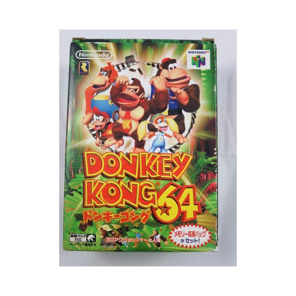 DONKEY KONG 64 RAM PACK SET N64 NTSC-JPN OCCASION (SANS NOTICE)