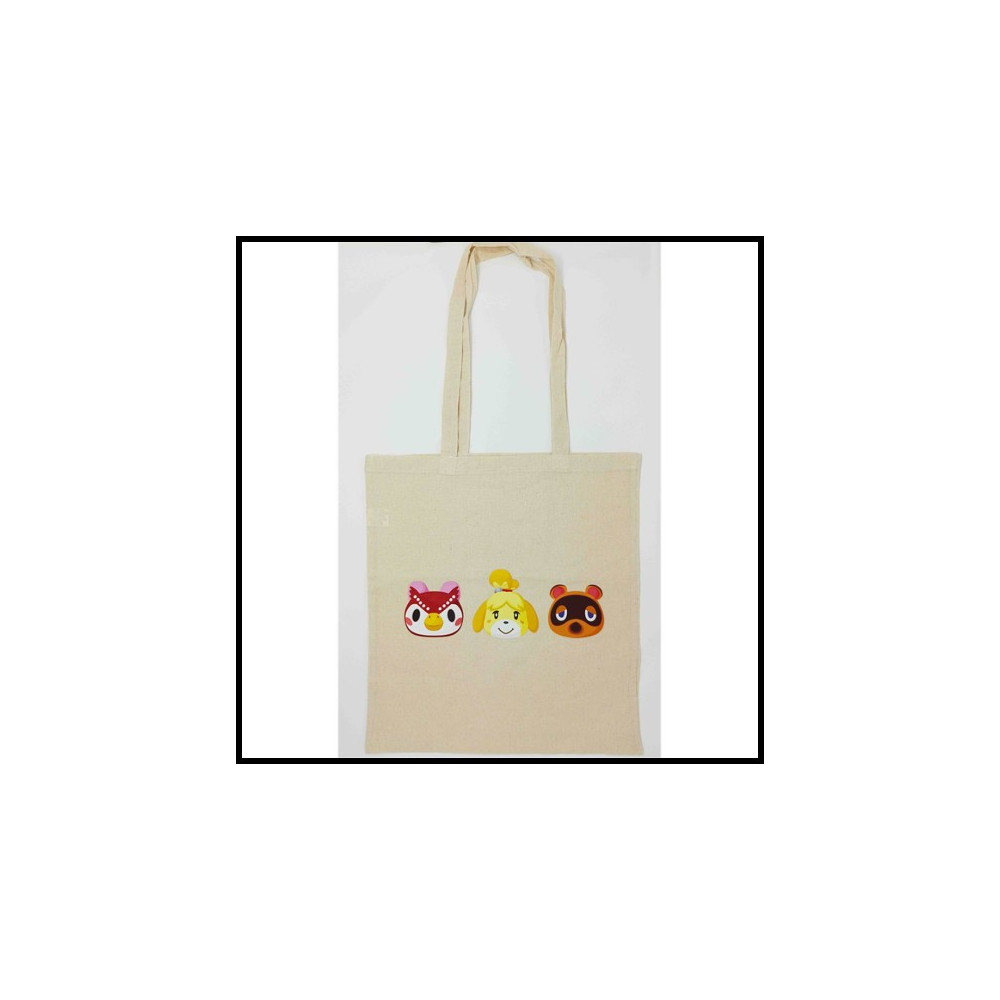SAC NINTENDO ANIMAL CROSSING 3 PERSONNAGES EURO NEW