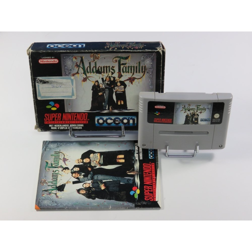 THE ADDAMS FAMILY SUPER NINTENDO (SNES) PAL-FAH (COMPLETE - GOOD CONDITION OVERALL)