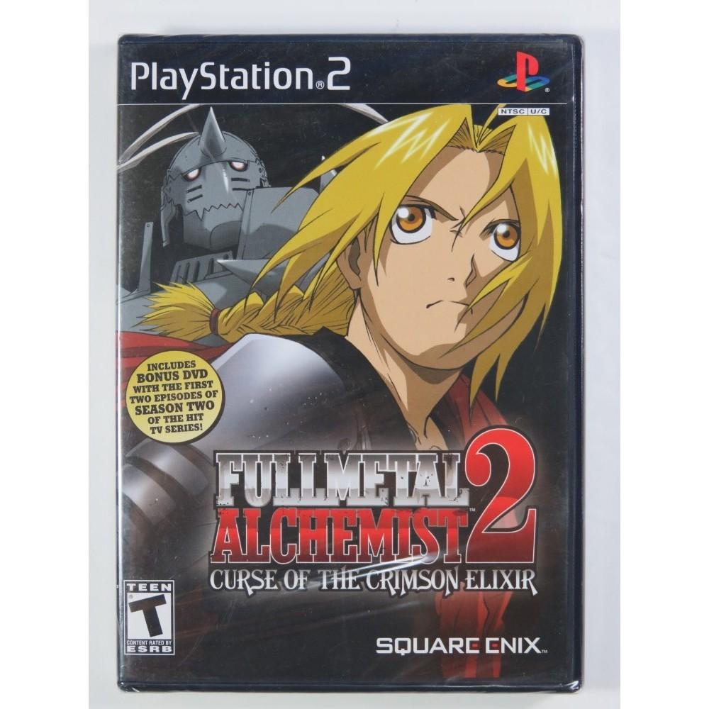 FULL METAL ALCHEMIST 2 CURSE OF THE CRIMSON ELIXIR PS2 NTSC-USA NEW