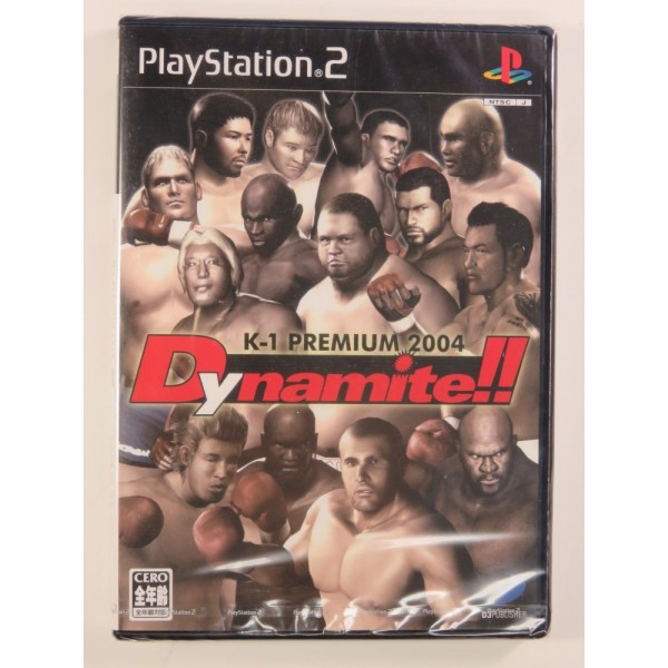 K-1 PREMIUM FIGHTING 2004 DYNAMITE!! THE FIGHTING FESTIVAL ON NEW YEAR S EVE PS2 NTSC-JPN NEW