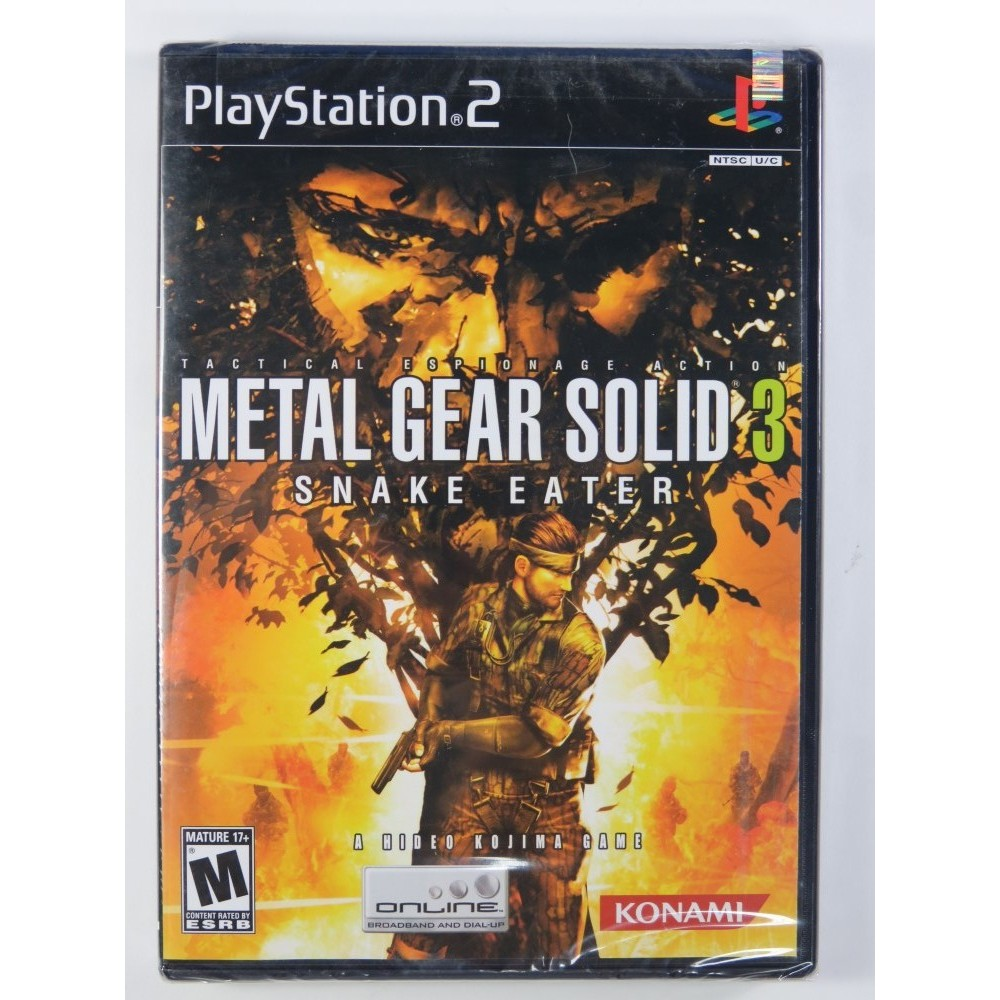 METAL GEAR SOLID 3 - SNAKE EATER PS2 NTSC-USA NEW
